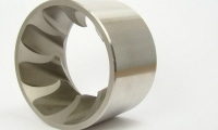 Complicated precision angles on a stainless steel part.