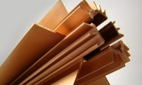 Copper fins illustrate a typical surface finish for wire EDM services.