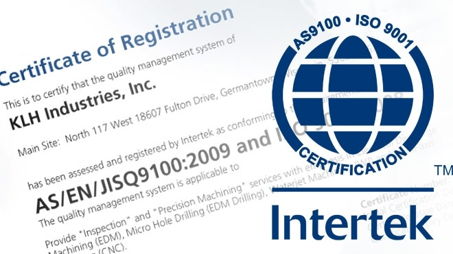 KLH Updates to AS9100:2009 Certification | KLH Industries Inc.